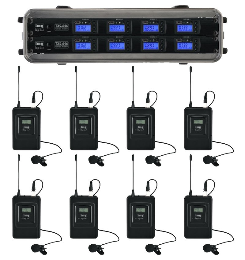 UHF 8 way wireless microphones from Sound Services