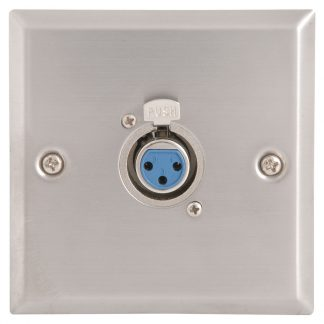 122.316 single XLR-F female socket on single gang wallplate