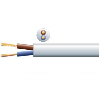 804.377 100m white 100v line 6A speaker cable