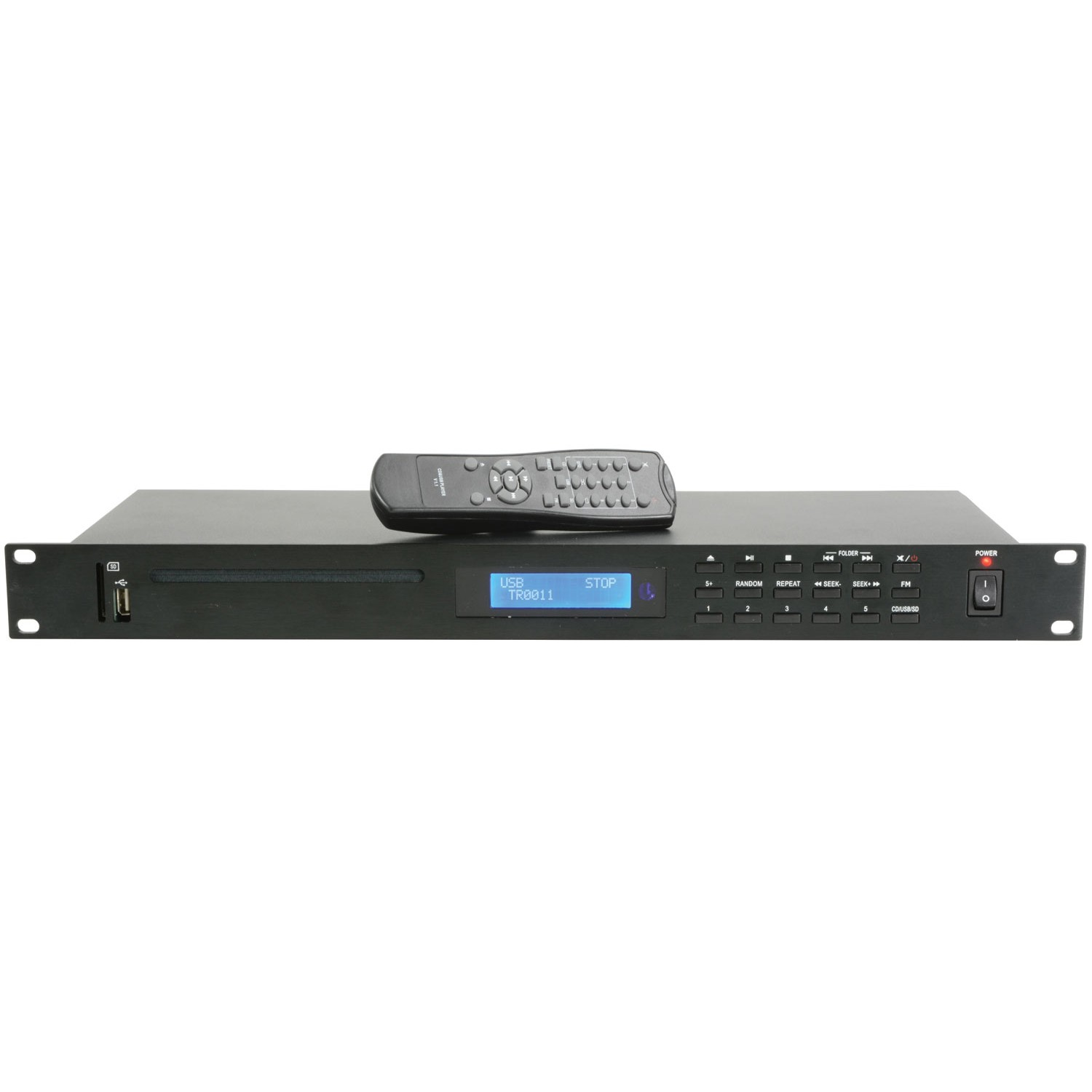 AD-400 is 1U rack mountable CD player with USB and SD card inputs and a built in FM tuner