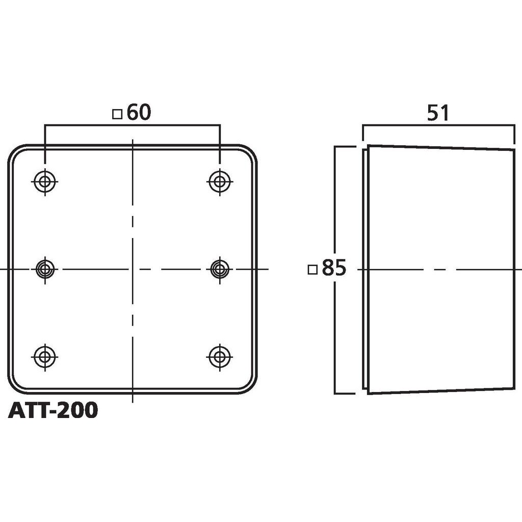 ATT-200 surface back box
