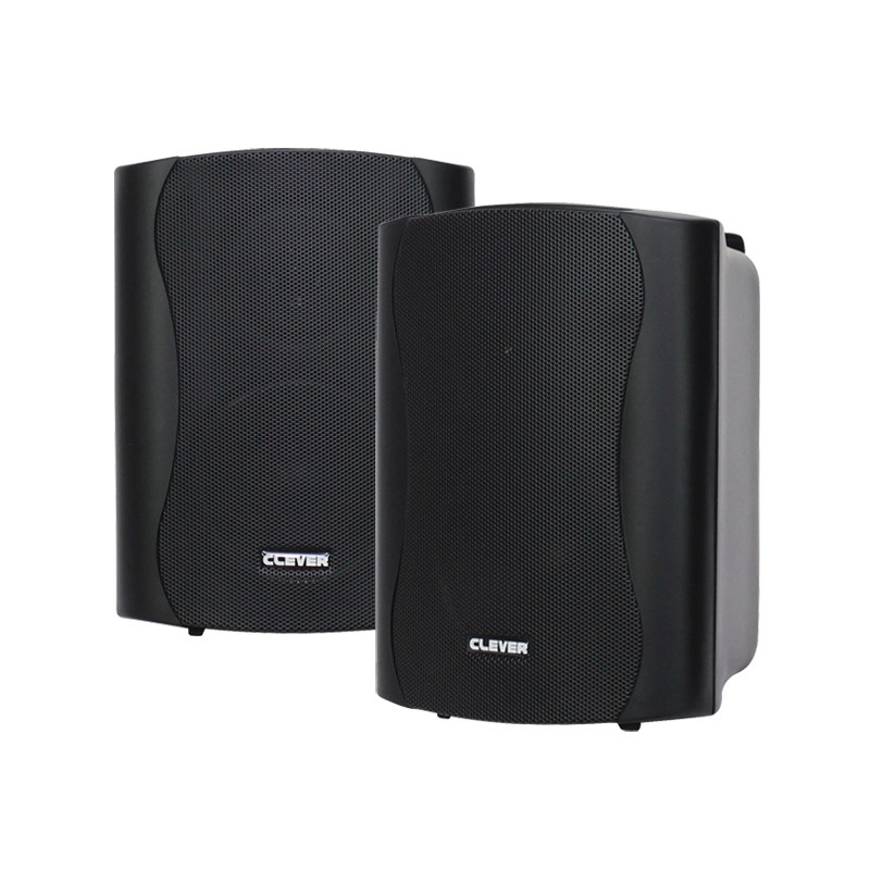 BGS 25T-B 16w 100V line or 8 ohm black wall cabinet speakers (pair)