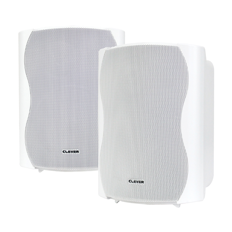 BGS 50T-W 30w 100V line or 8 ohm white wall cabinet speakers (pair)