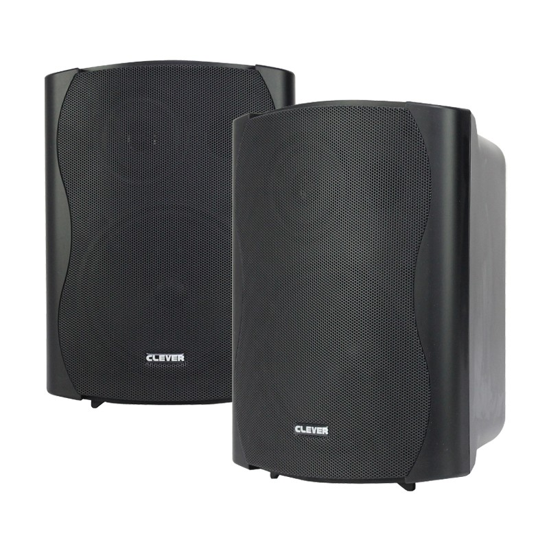 BGS 50T-B 30w 100V line or 8 ohm black wall cabinet speakers (pair)