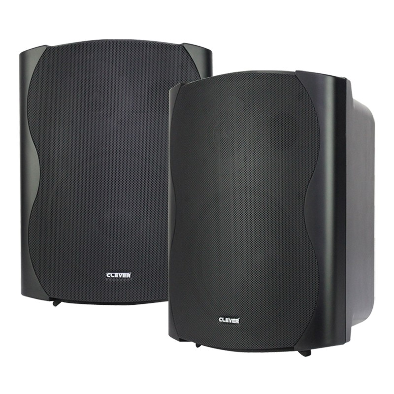 BGS 85T-B 50w 100V line or 8 ohm black wall cabinet speakers (pair)