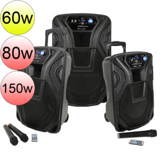 BUSKER Series portable PA with wireless microphones, MP3 & Bluetooth