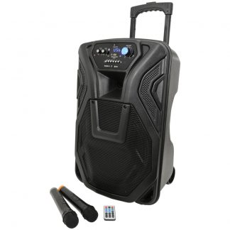 BUSKER-12 80w portable PA with wireless microphones, MP3 & Bluetooth