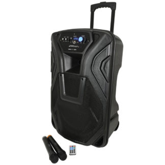 BUSKER-15 150w portable PA with wireless microphones, MP3 & Bluetooth