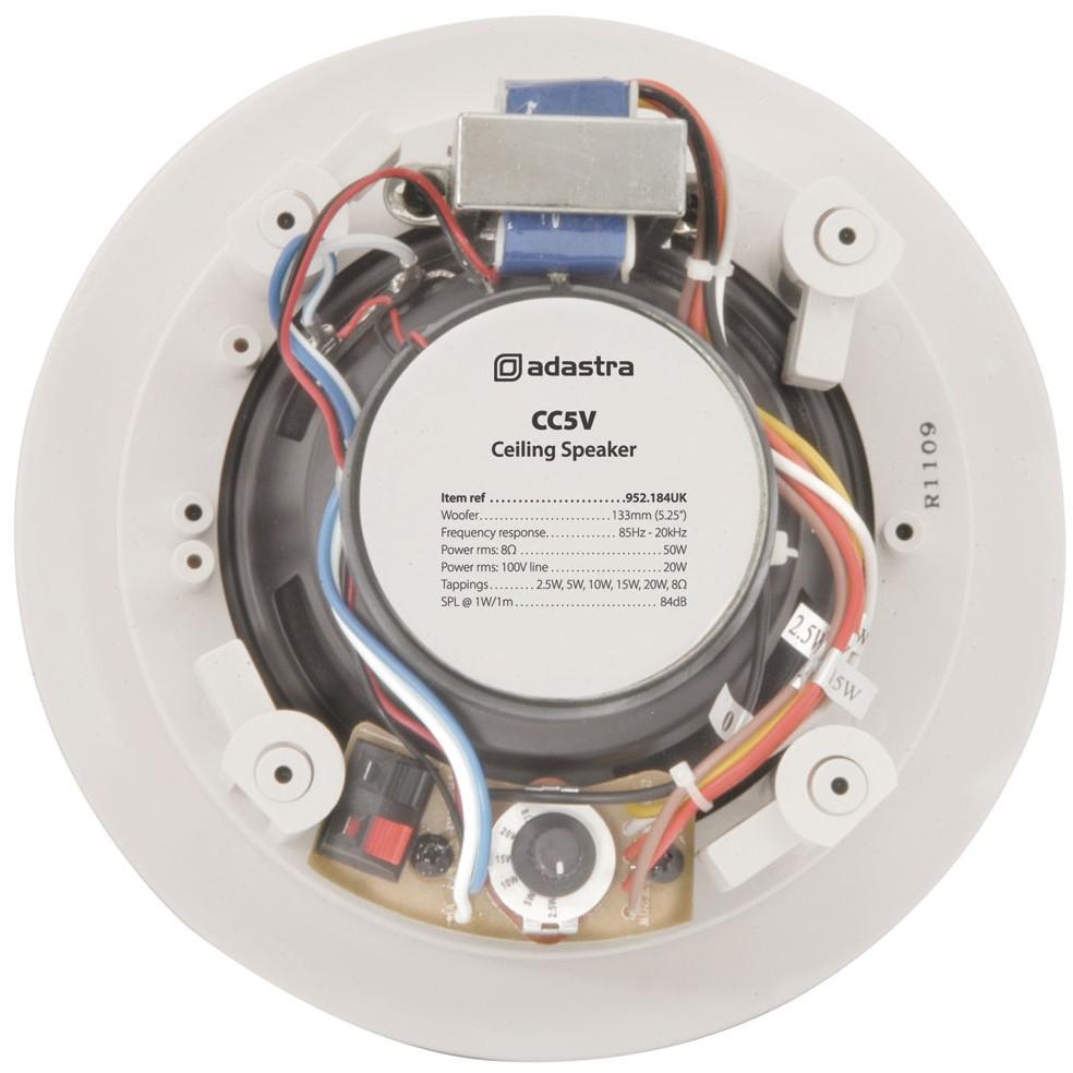 """CC5V 5 ¼"""" 20w 100v line or 8 ohm ceiling speaker"""