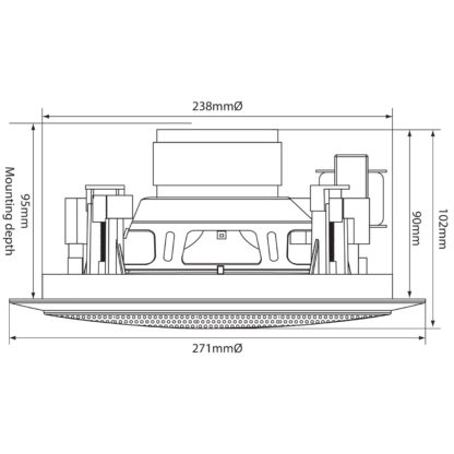 """CC8V 8"""" 50w 100v line or 8 ohm ceiling speaker"""
