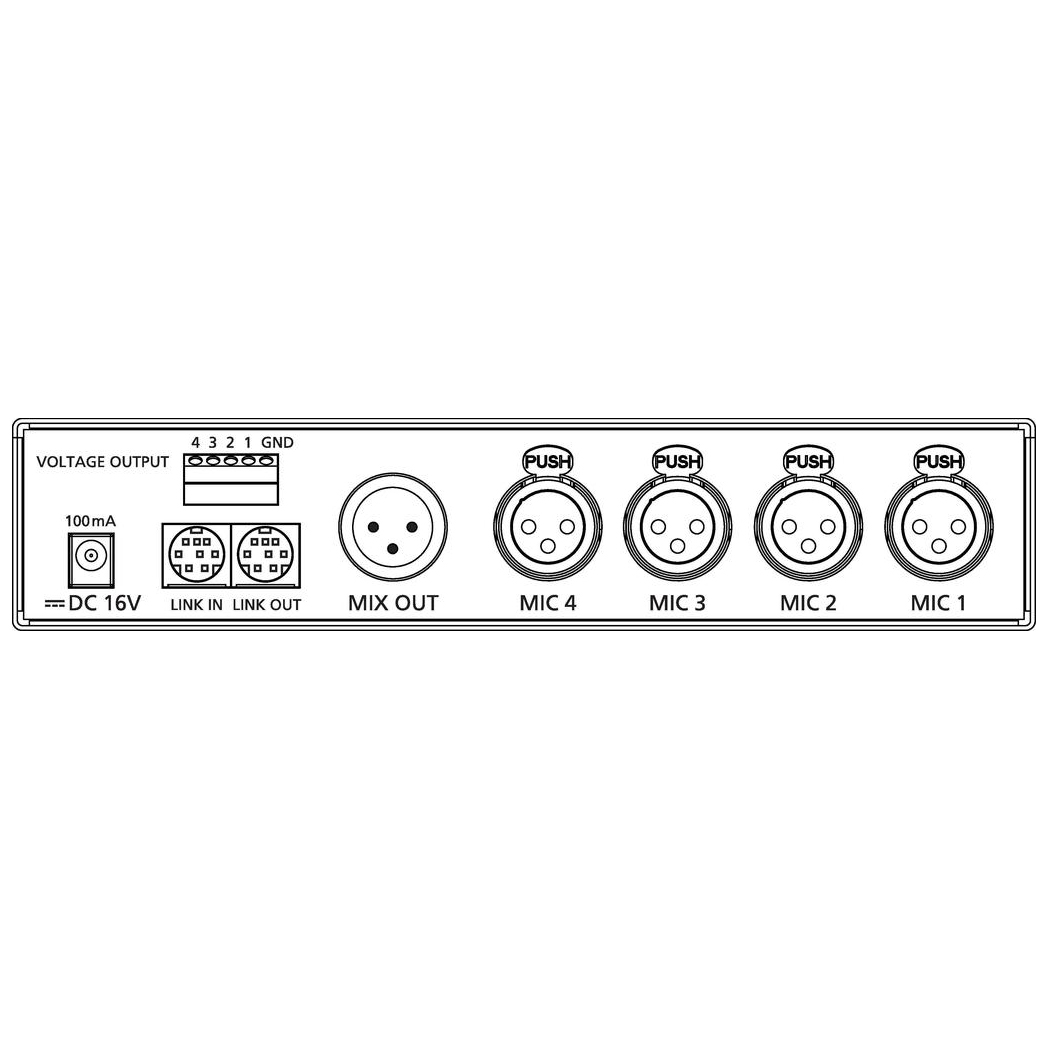 CS-4 4 input automatic mixer