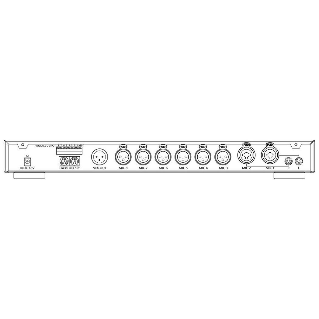 CS-8 8 input automatic mixer