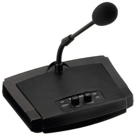ECM-450 desktop paging microphone with goosneck mic
