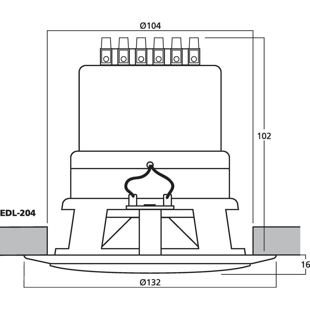 Monacor Edl 204 Ceiling Speaker Sound Services