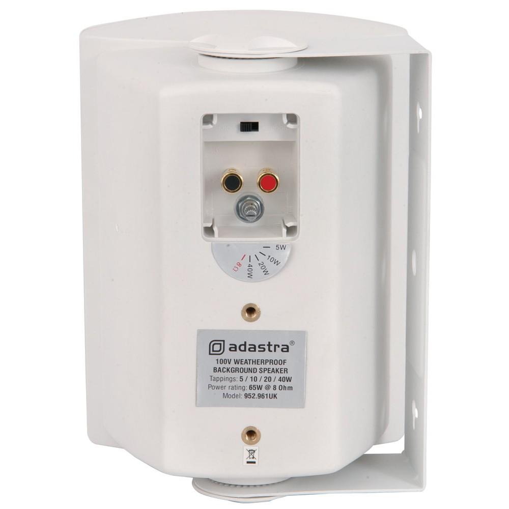 FSV-W 40w 100v line or 8 ohm white moulded cabinet speaker