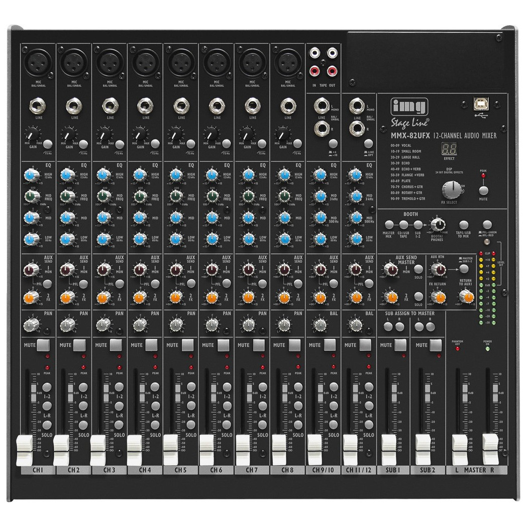 MMX-82UFX 10 input mixer with DSP effects