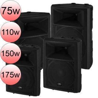 PAK-100 Series powered speakers