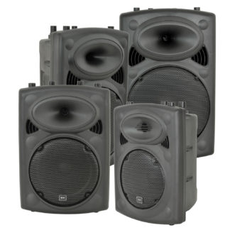 QR-K Series portable, all-in-one moulded powered loudspeakers