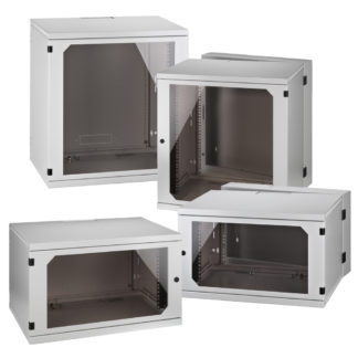 "RACK Series wall-mounted 19"" equipment racks"