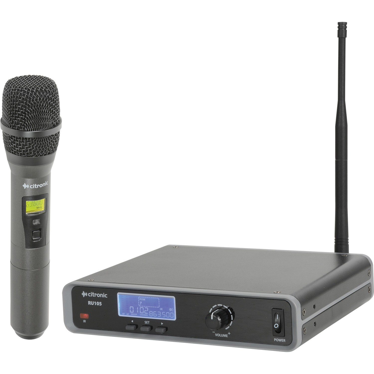 RU105-H license free Ch. 70 wireless microphone system