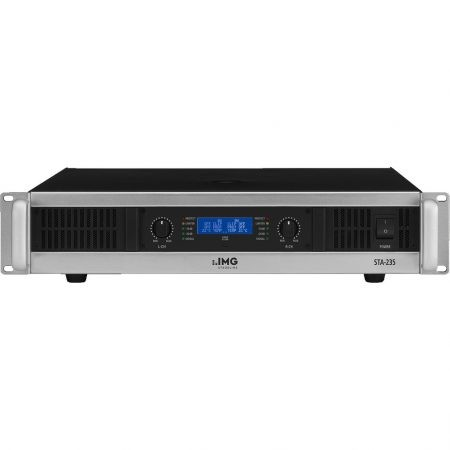 STA-235 professional 1,000w stereo PA slave power amplifier with integrated limiter