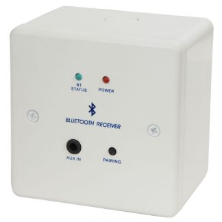 122.380 Bluetooth receiver wallplate and backbox