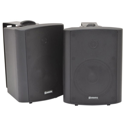 BC5A-B 30w+30w active black wall cabinet speakers