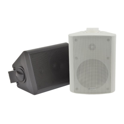 BC5A Series 30w+30w active black wall cabinet speakers