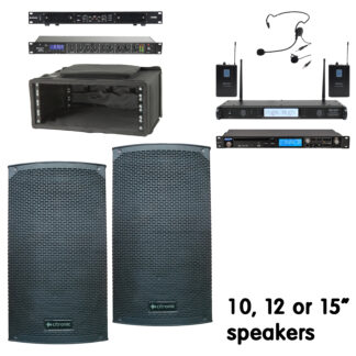 """CMA3 Series portable sound systems with 10, 12 or 15"""" speakers"""