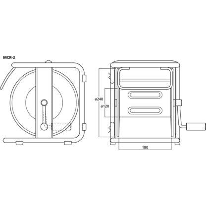 MCR-2 empty cable reel drum