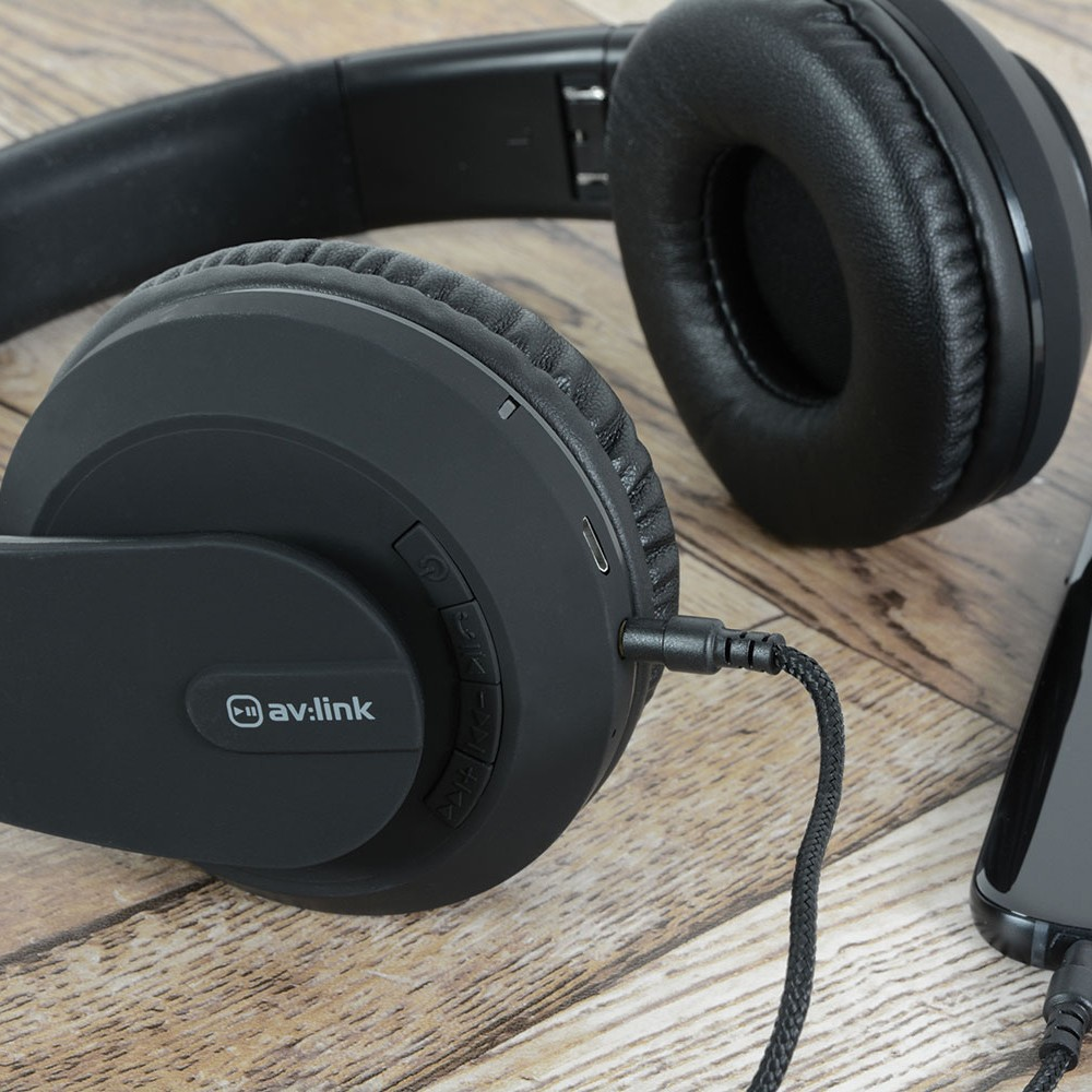 SFBH1-BLK black satin finish Bluetooth headphones with dynamic bass