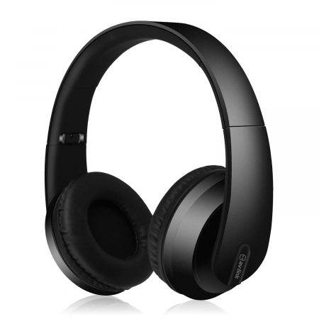 SFBH1-BLK black satin finish Bluetooth headphones with dynamic bass