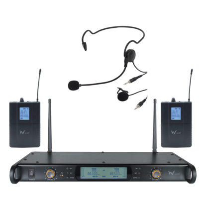 DTM 600 twin beltpack diversity wireless microphone system