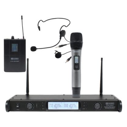 DTM 800 Series twin diversity wireless microphone systems