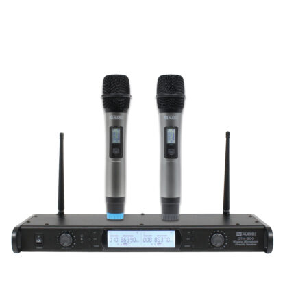 DTM 800 twin handheld diversity wireless microphone system