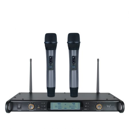 DTM 800H twin handheld diversity wireless microphone system