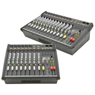 CSP Series compact powered mixers with DSP with optional rack-mounting kits