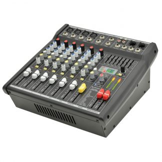 CSP408 200+200w compact powered mixer with DSP