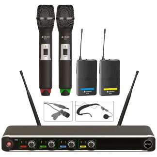 NU4-C quad combo wireless microphone system