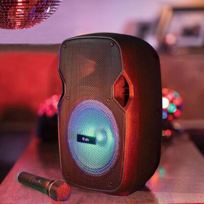 PAL8 portable all-in-one PA with Bluetooth and LED effects