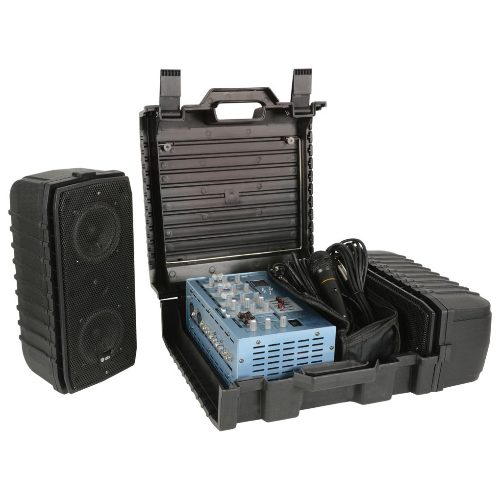 SC100 100w suitcase PA with USB/SD + DSP