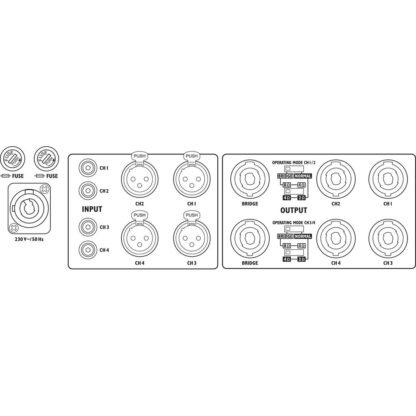 STA-2000D 4-channel digital PA amplifier