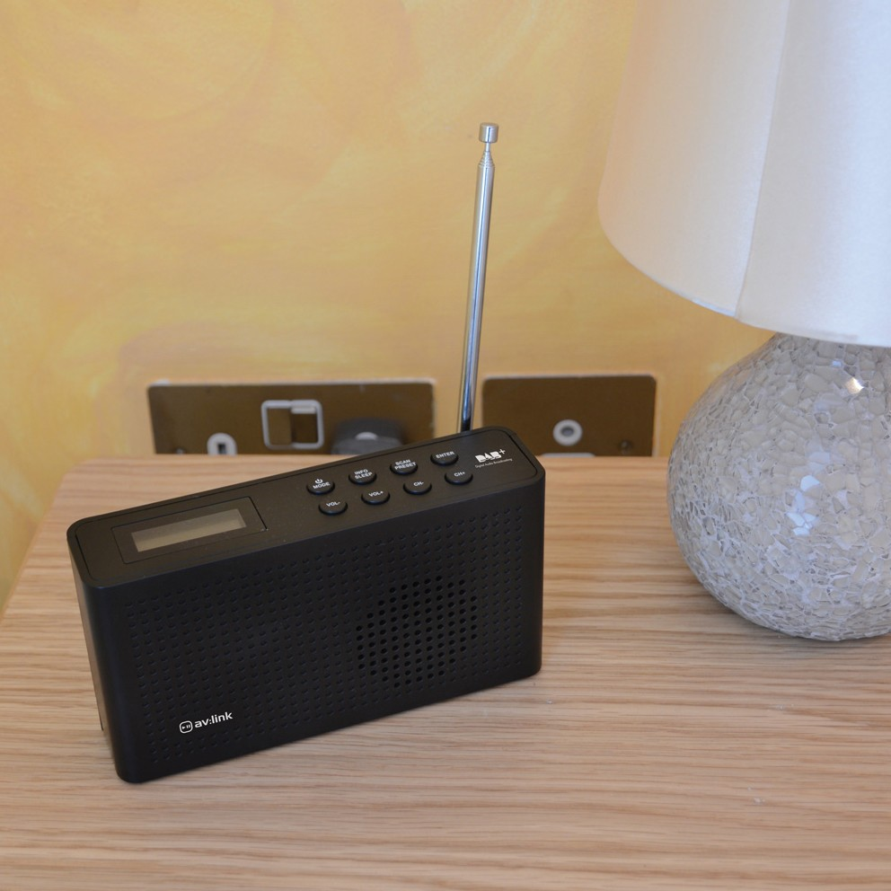 AV-DB1 portable rechargeable DAB+ and FM radio