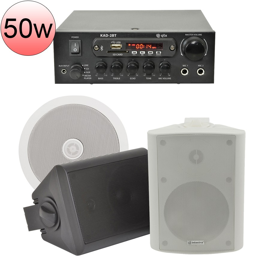 Bgm 50 Bluetooth Stereo Background Music System Sound