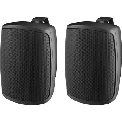 "WALL-04T/SW pair of 4"" 16w (100V line) or 30w (8Ω) black cabinet speakers"