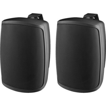 "WALL-05T/SW pair of 5"" 16w (100V line) or 40w (8Ω) black cabinet speakers"
