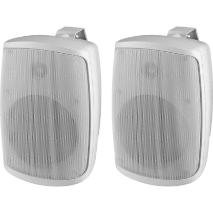 "WALL-05T/WS pair of 5"" 16w (100V line) or 40w (8Ω) white cabinet speakers"