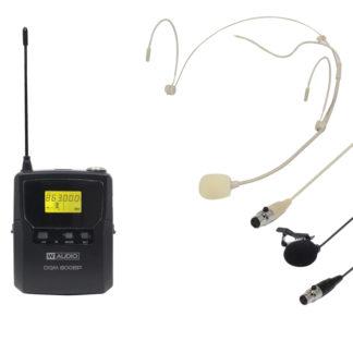 DQM 800BP UHF Ch 70 bodyworn radio microphone transmitter