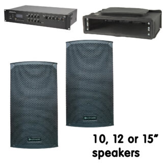 """CMA2-12 portable sound system with 8, 10, 12 or 15"""" speakers"""
