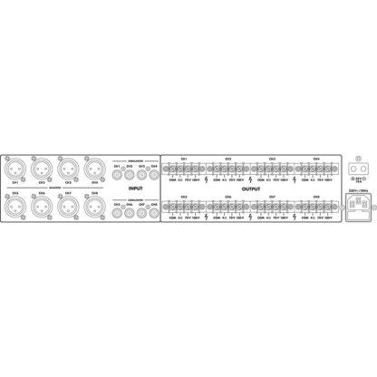 PA-1850D 8 channel 100v line digital PA power amplifier